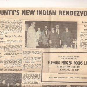 Newspaper from 1970s